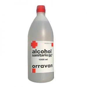 Alcohol 96 Sanitario Orravan en Solución Uso Tópico