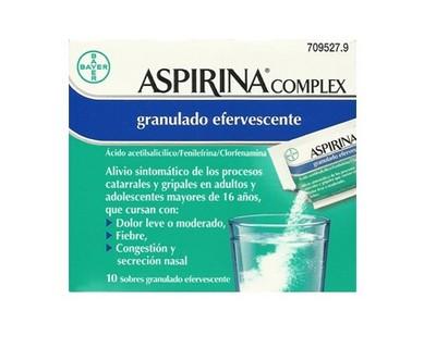 Aspirina Complex en Sobres Efervescentes