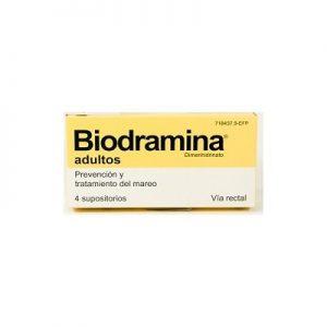 Biodramina Adultos en Supositorios