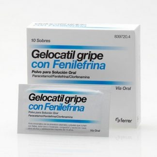 Gelocatil Gripe Forte Con Fenilefrina en Sobres