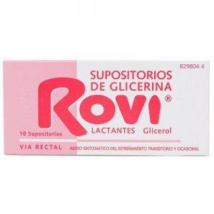 Supositorios Glicerina Rovi Lactantes en Supositorios